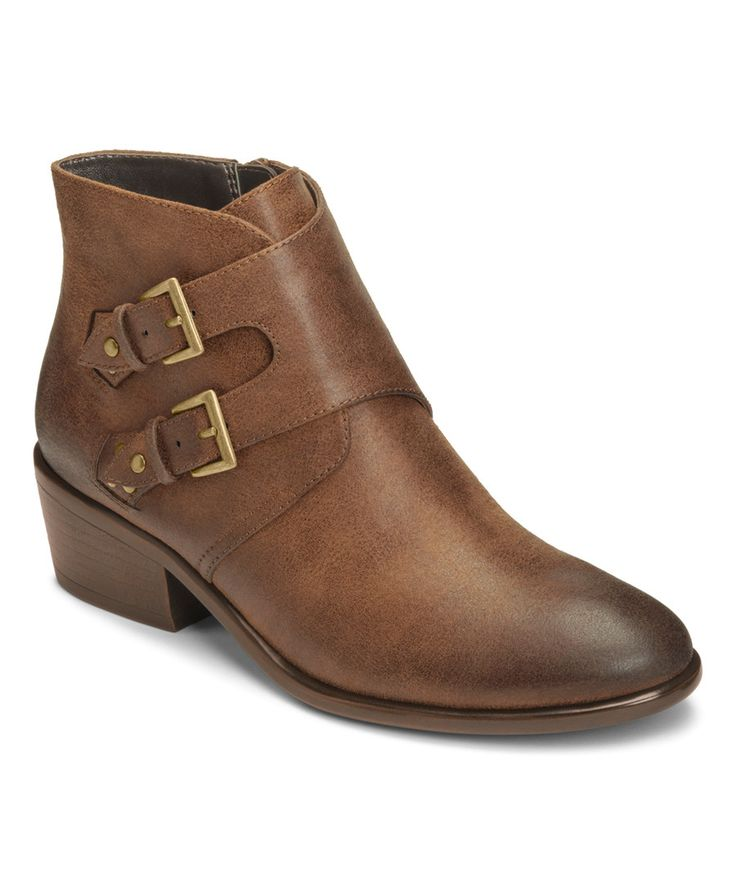 Aerosoles Brown Urban Myth Double Monk Strap Ankle Boot