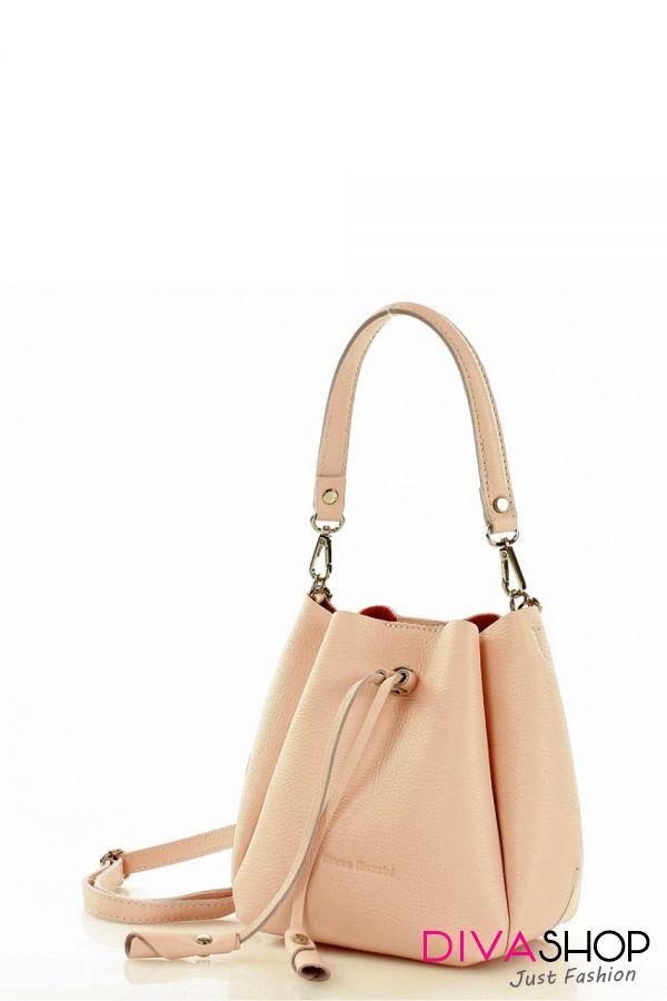 o noua sosire poze noi stiluri clasice Geanta dama piele naturala roz Mazzini - 266 Lei - Latime: 19 cm ...