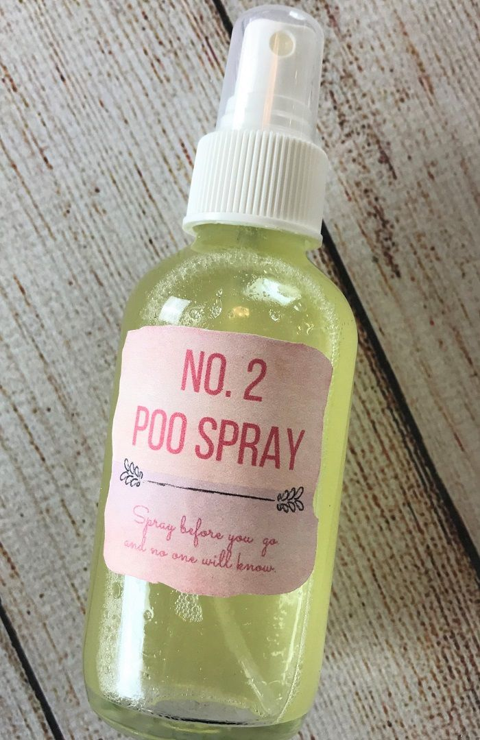 "DIY ""Before You Go"" Poo-Pourri No. 2 Toilet Spray -- natural, cheap, and easy to make, but best of all - it really works! Give the toilet bowl a few quick sprays before you go and the odors will be trapped discreetly inside the toilet bowl and flushed awa"