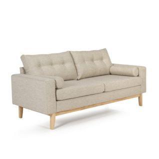 Canapé vintage fixe écru Kenora prix promo Alinea 509.00 € TTC