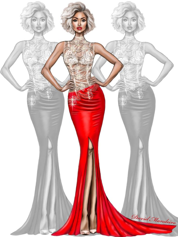 Micah Gianneli in ABYSS BY ABBY gown. ❤️❤️ #Digitaldrawing by David Mandeiro Illustrations #MicahGianneli #fashionblogger #digitalart #Wacom