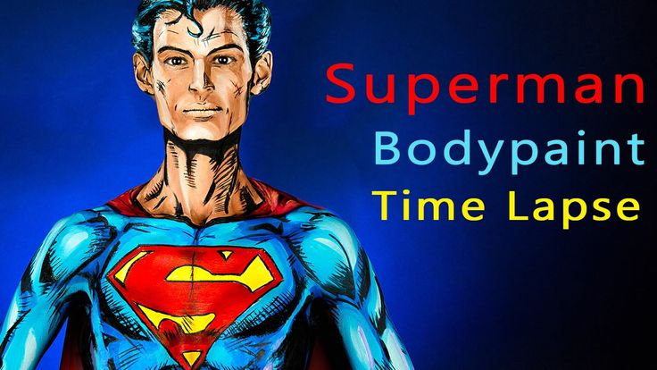 ► Superman Bodypaint Time Lapse by Kay Pike