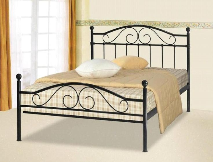 Sussex Black Double Bed Frame