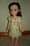 """How to alter 18"""" doll clothes patterns for 15"""" dolls...especially good for the Tolly Tots My First Disney Princess Toddler dolls!"""