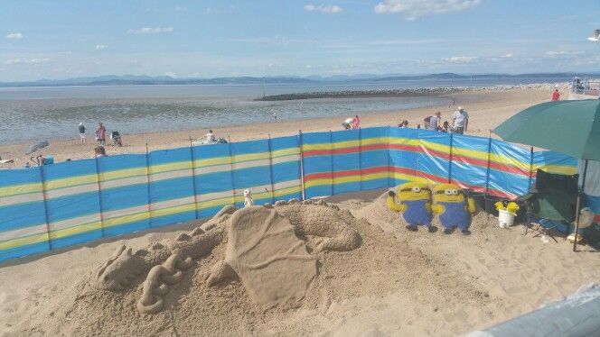 Sand art on Morecambe beach