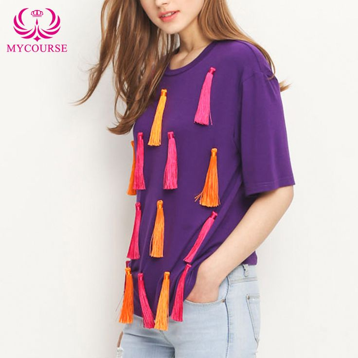 Find More T-Shirts Information about MYCOURSE Summer Fashion European Casual T Shirt Women Tassel Knot Ladies Vintage Slim Tops Camisetas Femininas Plus Size O Neck ,High Quality women silk shirt,China womens rock t shirts Suppliers, Cheap women sweat shirts from MYCOURSE on Aliexpress.com