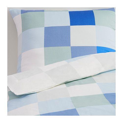 ikea klipplin housse de couette et taie xx cm le coton peign confre au linge de lit un toucher. Black Bedroom Furniture Sets. Home Design Ideas