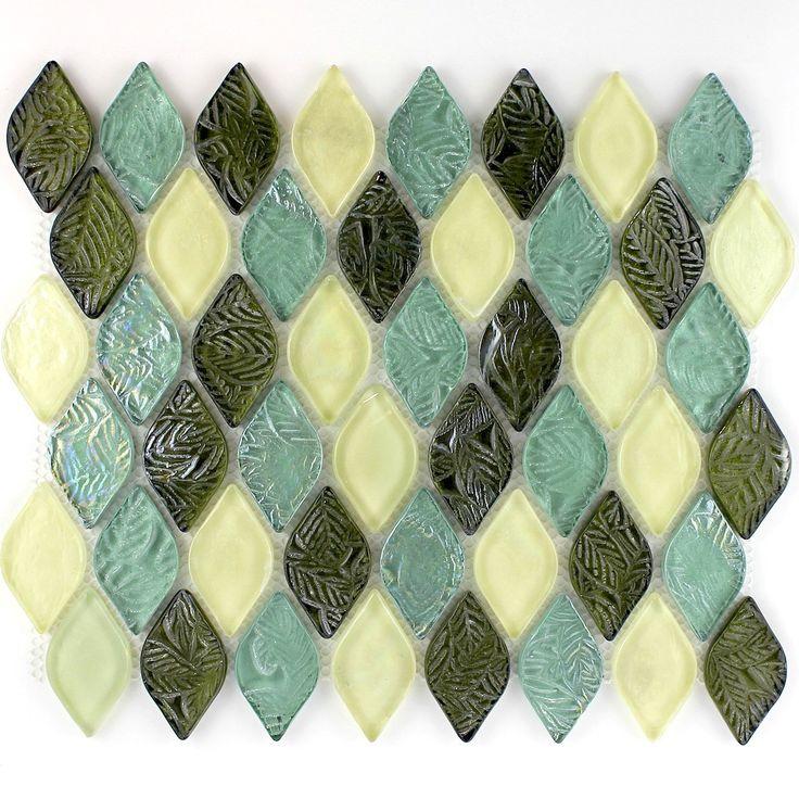 28 best mosaique vert images on Pinterest Cooking food, Bathroom - carreaux de verre pour salle de bain