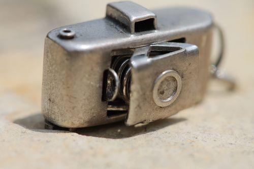 Vintage Sterling Silver Polaroid J66 Land Camera Mechanical Charm