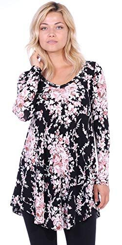 3256eae1bc9 Popana Women s Tunic Tops for Leggings Long Sleeve Shirt Plus Size Made in  USA at Amazon Women s Clothing store