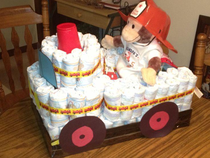 Firetruck diaper display