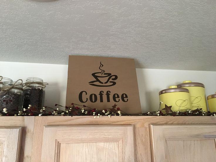 Coffee kitchen sign #antiquecoffeetheme #kitchendecor #diy | Coffee theme, Kitchen signs ...