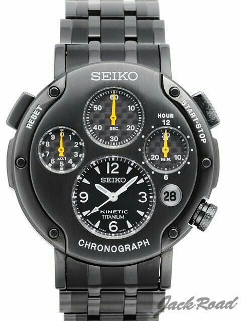 SEIKO Sportura kinetic chronograph black