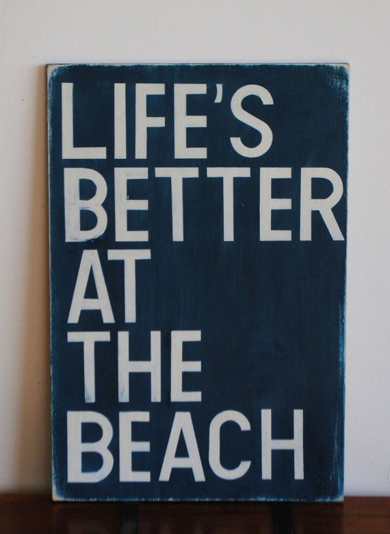 Beach Sign Custom Wood Sign Vintage Sign Life's by wordsignsdecor