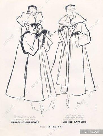 Pierre Simon 1948 Marcelle Chaumont & Jeanne Lafaurie, Coats