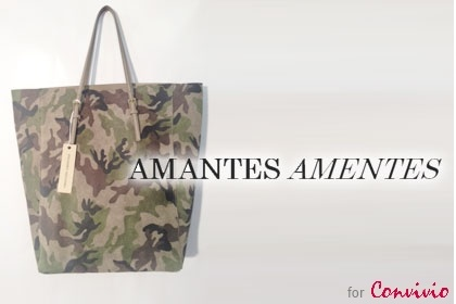 Italian handmade bag 'Manhattan Medium Camouflage' by Amantes Amentes (350$) | Click on the product image, reduce the price, buy. | The price? You choose! | partnership with Convivio Milano 2012: all proceeds go to ANLAIDS