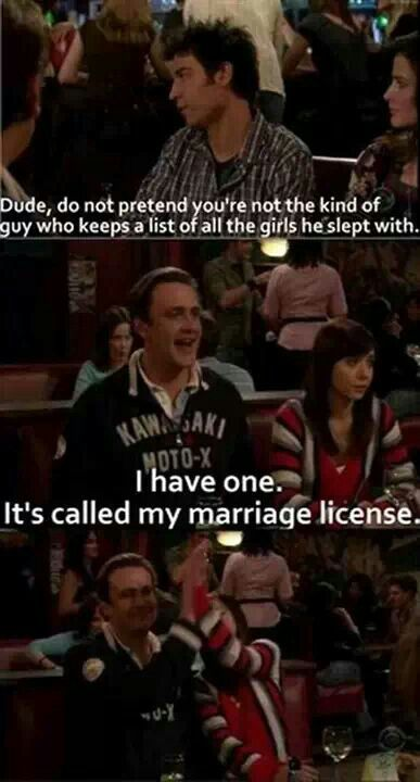 b279f5c49b87b9b03a557f0a85a92988 marriage license high five 12 best himym quotes images on pinterest himym, mothers and,Himym Memes