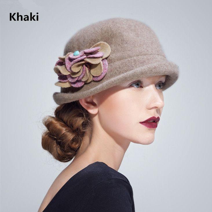 Flower bucket hats vintage style trilby hat for women