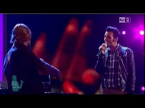 """30.10.11-MARCO MENGONI e DAVID GARRETT  """"BACK TO BLACK"""" live @ """"QUELLI CHE IL CALCIO..."""""""