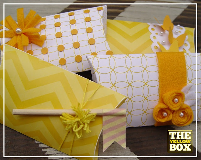 Totally cool pillow box downloads- great ideas on how to glam them up too!