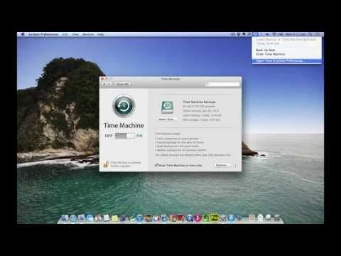 how to create a time machine backup