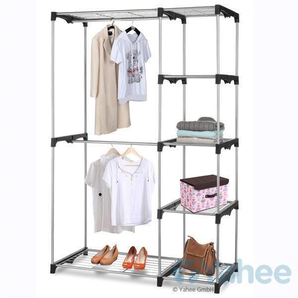 Garderobenständer Kleiderstange Kleiderständer Ausziehbar mit zwei Stangen