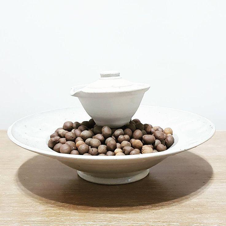Brown n white #ceramic #teaware