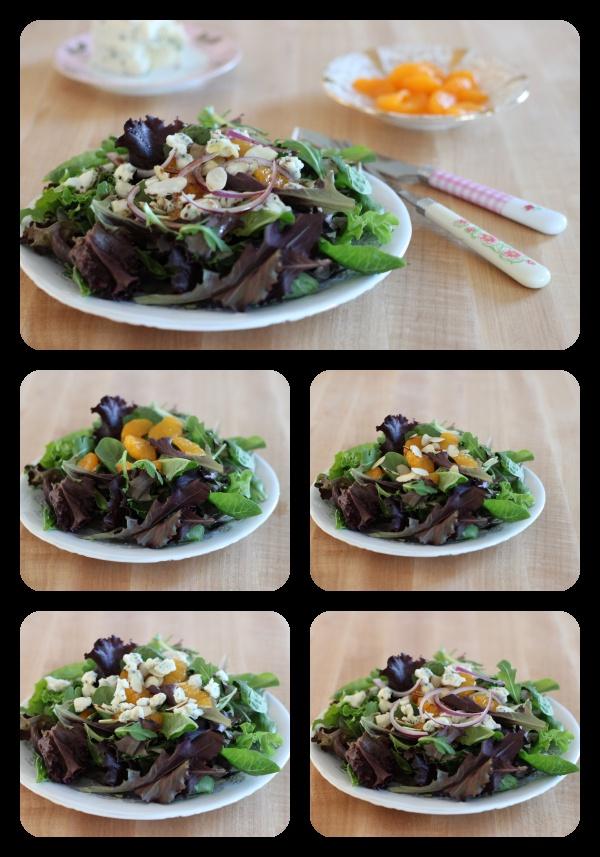 Super fancy salad, five super easy steps
