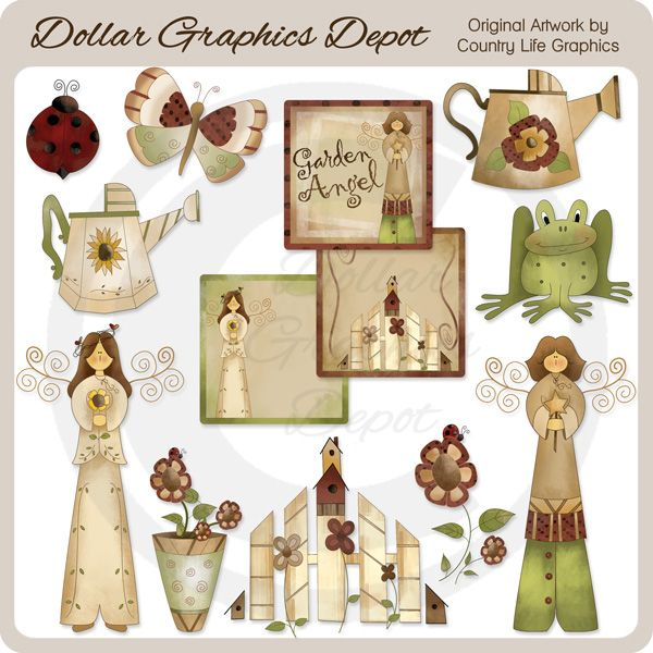 Garden - Clip Art - $1.00 : Dollar Graphics Depot, Quality Graphics ~ Discount Prices