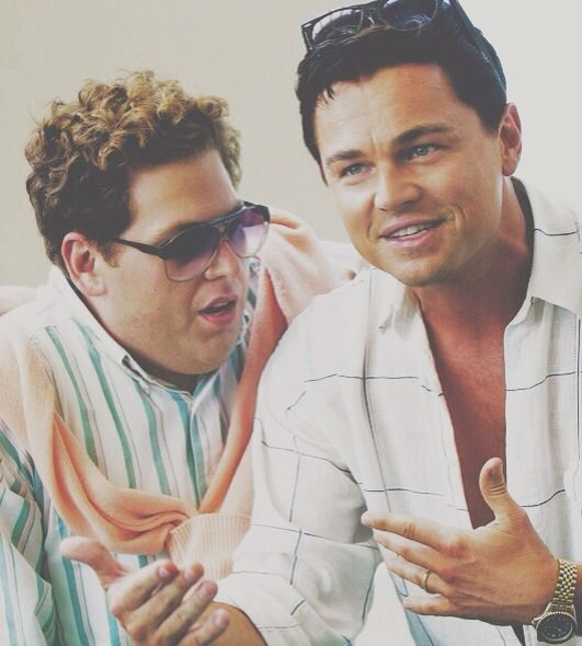Leo Leonardo Dicaprico And Jonah Hill. Wolf Of Wall Street.