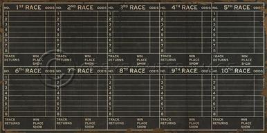 Artwork SPICHER Horse Racing Form New SC-701