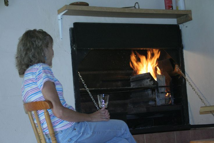 Each cottage has its own inside fireplace, so you can have your barbeque even when the weather is bad.