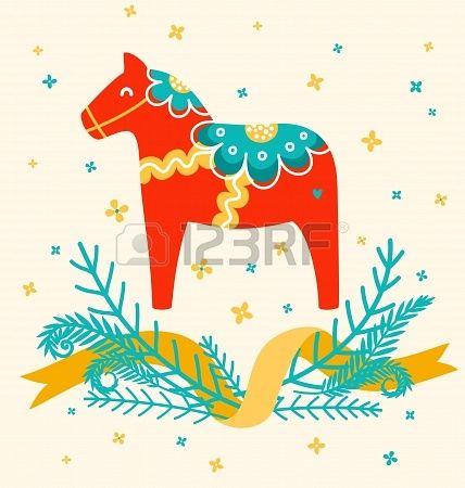 swedish horse illustration