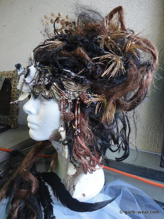 Voodoo Tribal Headdress/Wig, I would totally rock this shit