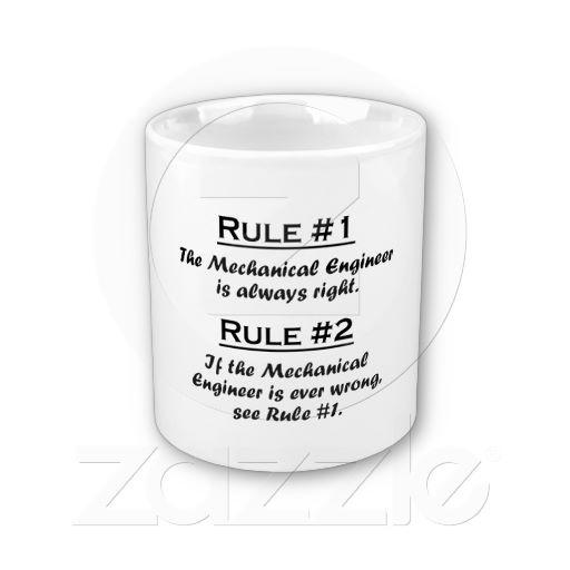 Rule Mechanical Engineer Coffee Mugs