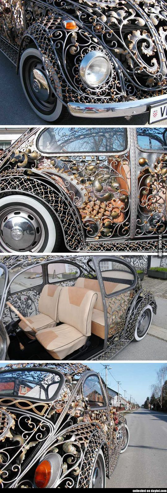 Volkswagen Beetle body from a Croatian metalwork shop This is awesome!