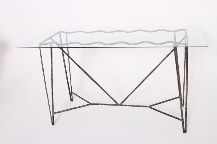 onda su onda #tavolo 8 posti VETRO+FERRO #handmade #riciclodautore #DINUOVONUOVO #design