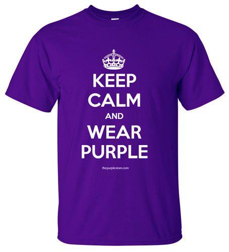Purple T-Shirt - Keep Calm and Wear Purple