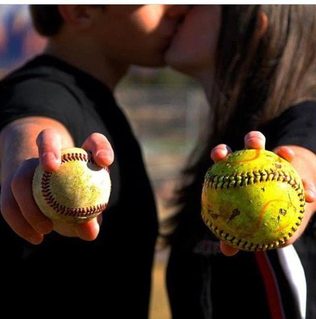 Baseball and softball couples❤