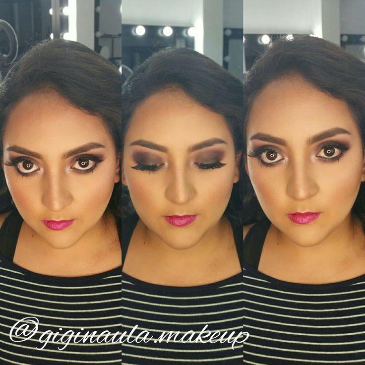 Hermosa @mica_moralesp lista para su Evento. Con un Smokey Eyes en tonos morados y Marrón de la paleta de sombras @morphebrushes 35N, 35P y labios Fucsia de @nyxcosmetics_es Has tu Cita Previa al 📲 0987266777/0995191043 #giginaulamakeup #makeup #maquillajeprofesional #maquillajeecuador #makeupecuador #morphe #morphebrushes #35N #35P #smokeyeye #morado #purpe #marron #fuchsia #fuchsialips #kryolanmakeup #maquillajedenoche #makeupartist #makeupadddict #makeupartistworldwide #makeuplover
