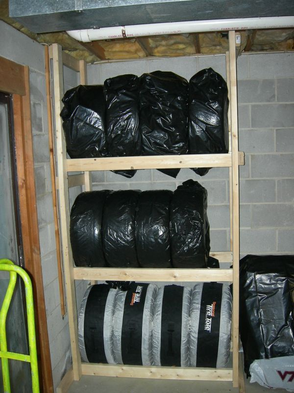 how to build wall tire racks