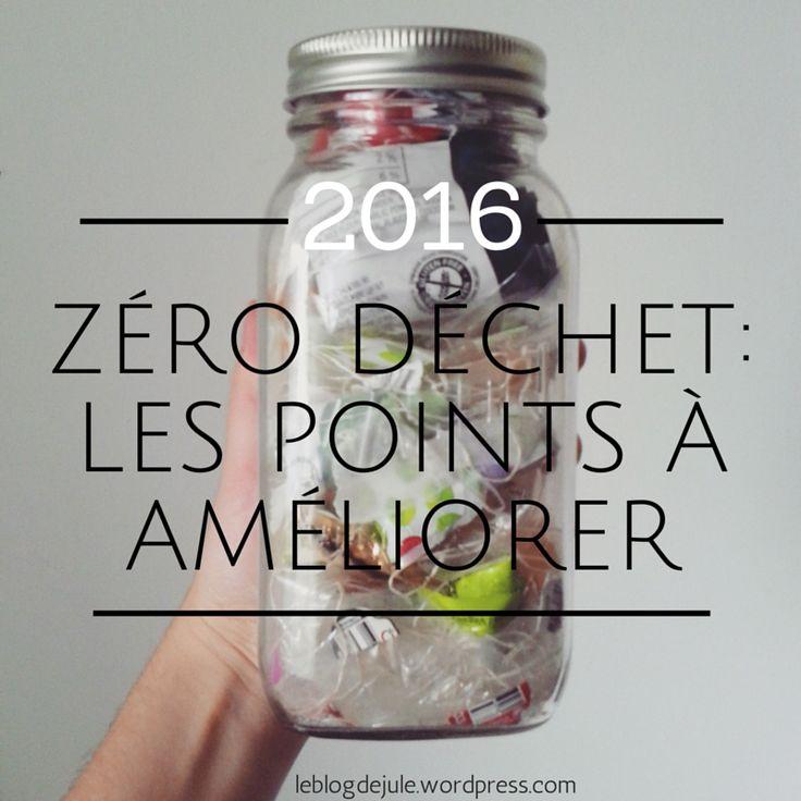 Zéro déchet : Les points à améliorer-2016