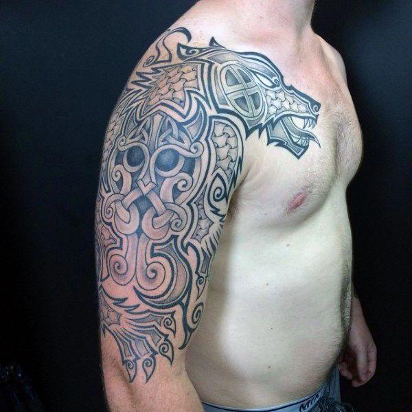 Mens Arms Nordic Dragon Tattoo   tatuajes | Spanish tatuajes  |tatuajes para mujeres | tatuajes para hombres  | diseños de tatuajes http://amzn.to/28PQlav