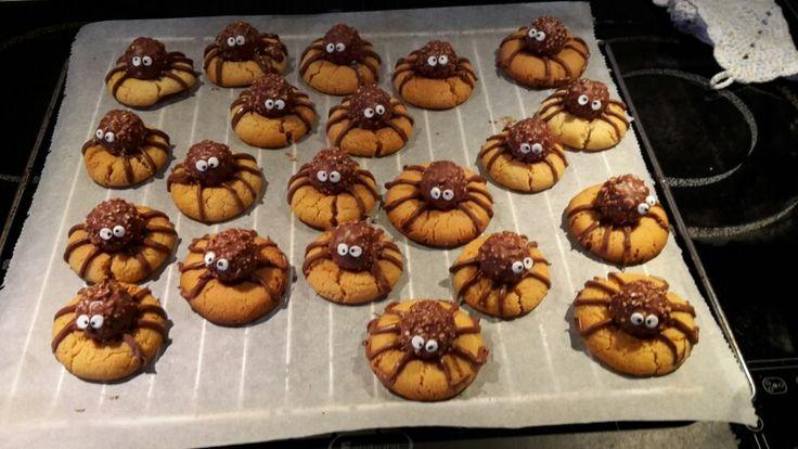 Rocher Spinnen Kekse