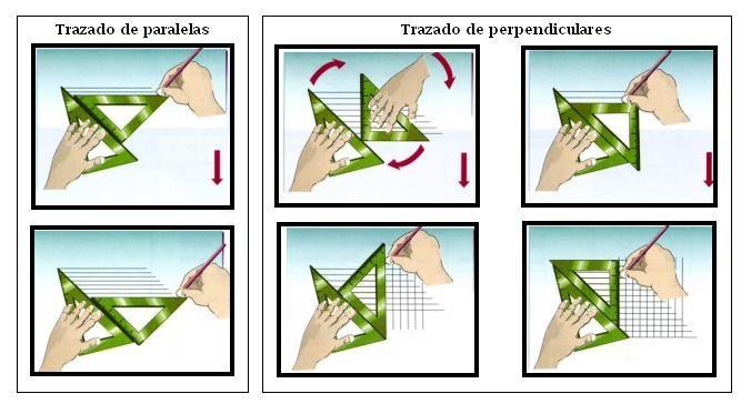 Uso De Escuadras Para Trazos Rectos Paralelas Y Perpendiculares Clases De Dibujo Tecnicas De Dibujo