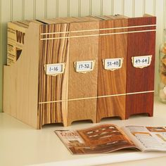 Collector's Magazine File Woodworking Plan