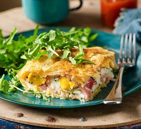 Bacon and egg pie: This could just be the pie that dreams are made of! Simply line tin with pastry, add ingredients, top with pastry and bake.