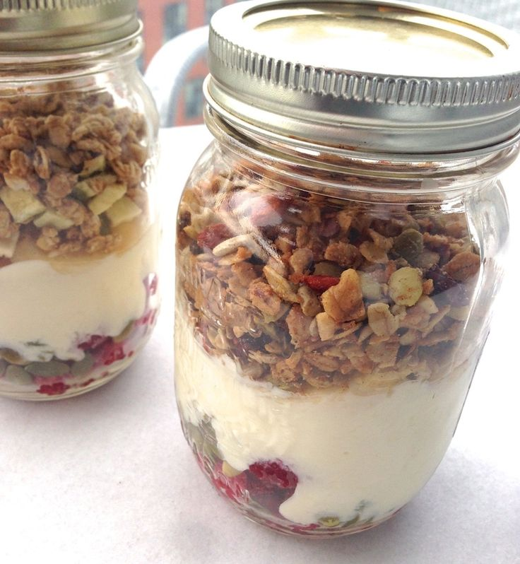 Granola Breakfast in a Mason Jar #masonjar #recipes test http://greatist.com/eat/mason-jar-recipes