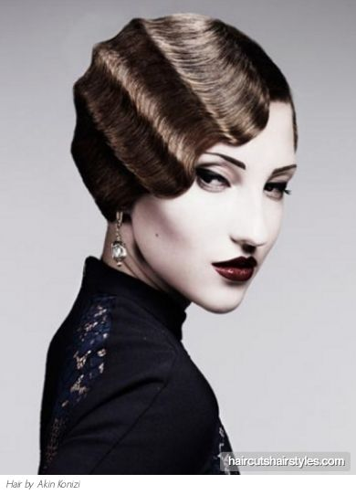 Finger wave - Art Deco hairstyle