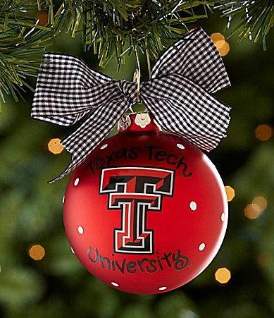 Coton Colors Texas Tech Logo Ornament....purchase at Tberry's...they personalize with graduation dates...cool!